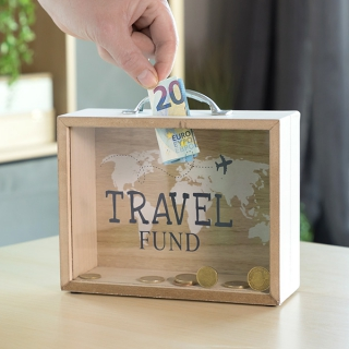 Tirelire en Bois Malle Travel
